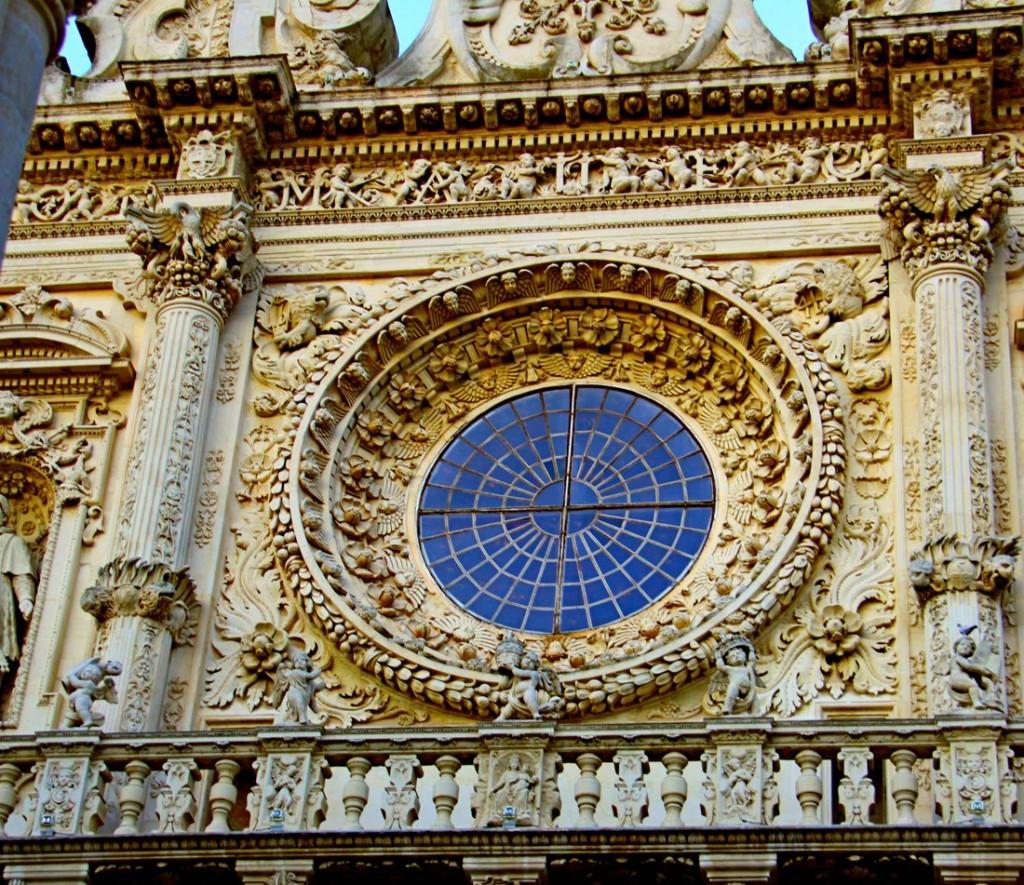 Lecce: Rosone della Basilica di Santa Croce