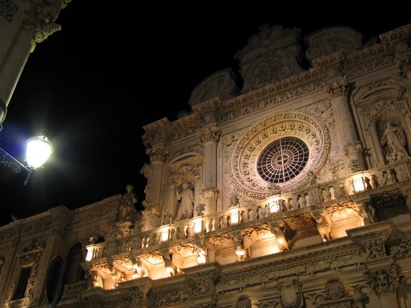 Lecce Basilica di Santa Croce Rosone superiore