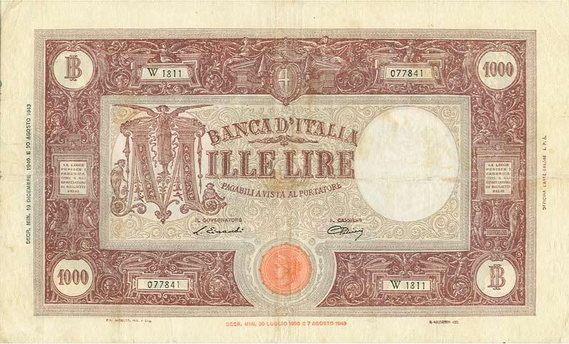 Vorrei avere 1000 (lire) euro al mese