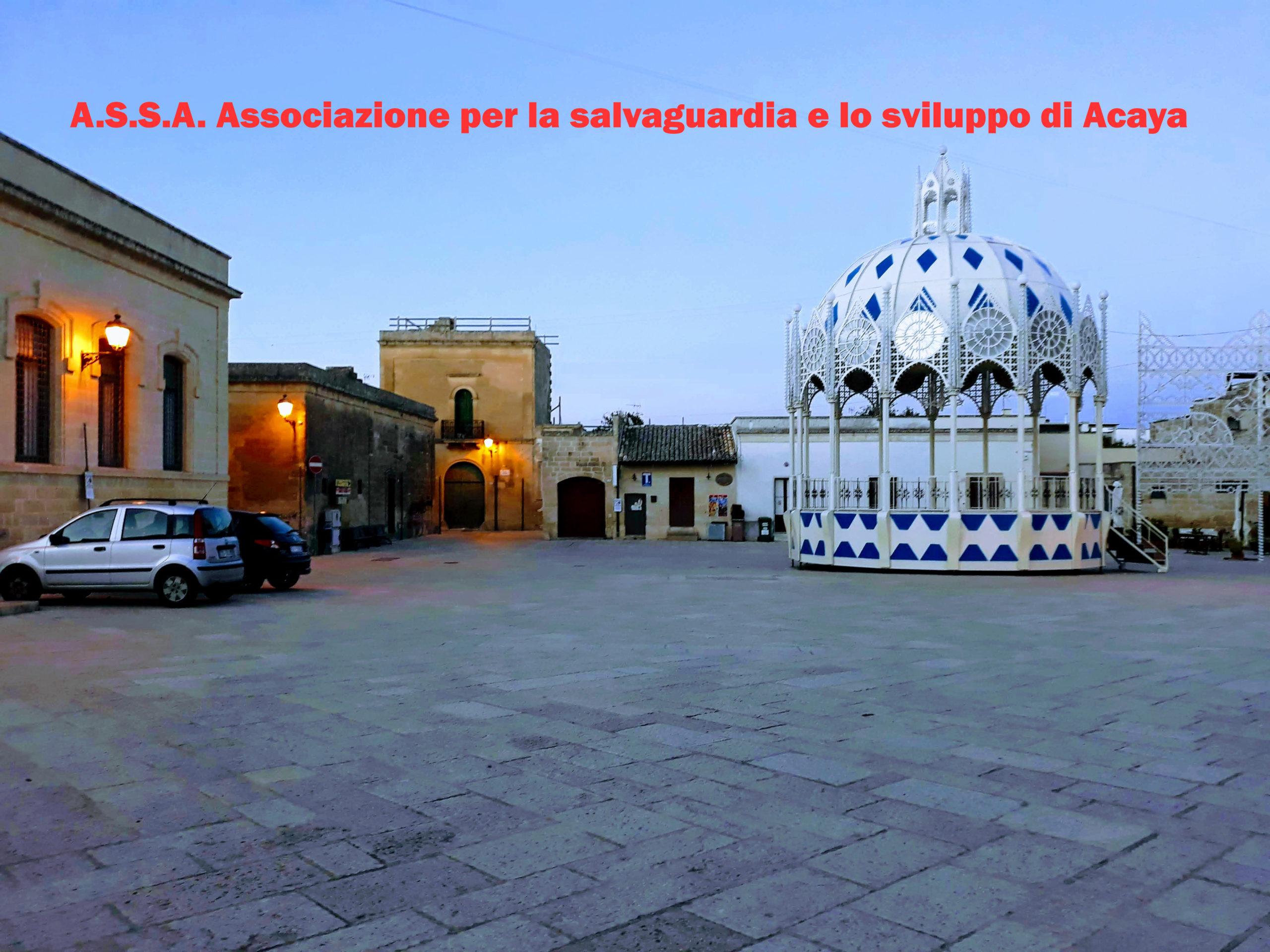 Il nuovo sito di A.S.S.A. Associazione per lo sviluppo e la salvaguardia di Acaya