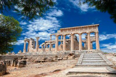 Il Tempio di Aphaia ad Aegina a sorvegliare il Mare Egeo