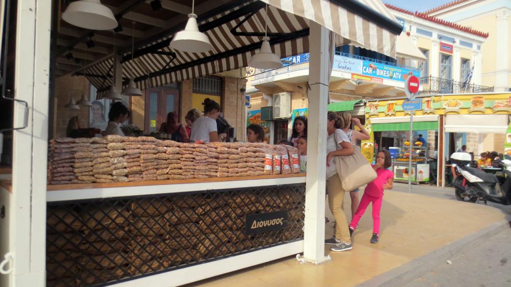 Aegina banchetto per la vendita dei pistacchi