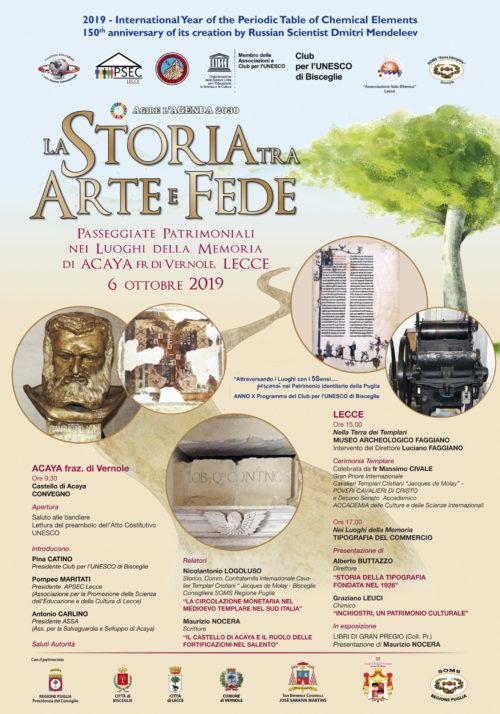 LA STORIA TRA ARTE E FEDE, Le CULTURE – il DIALOGO, Passeggiata Patrimoniale nei Luoghi della Memoria di Acaya e Lecce