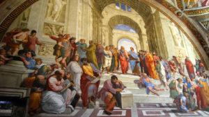 L'Agorà di Atene con i filosofi