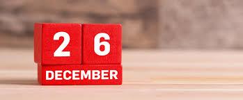 Calendario 26 dicembre