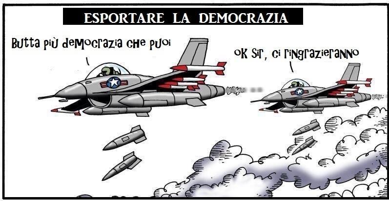 La democrazia secondo gli USA (e getta)