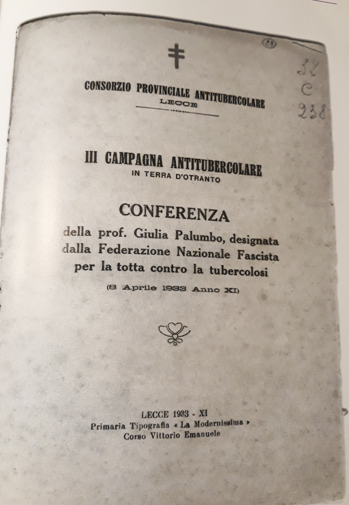 Relazione sulla tubercolosi di Giulia Lucrezia Palumbo